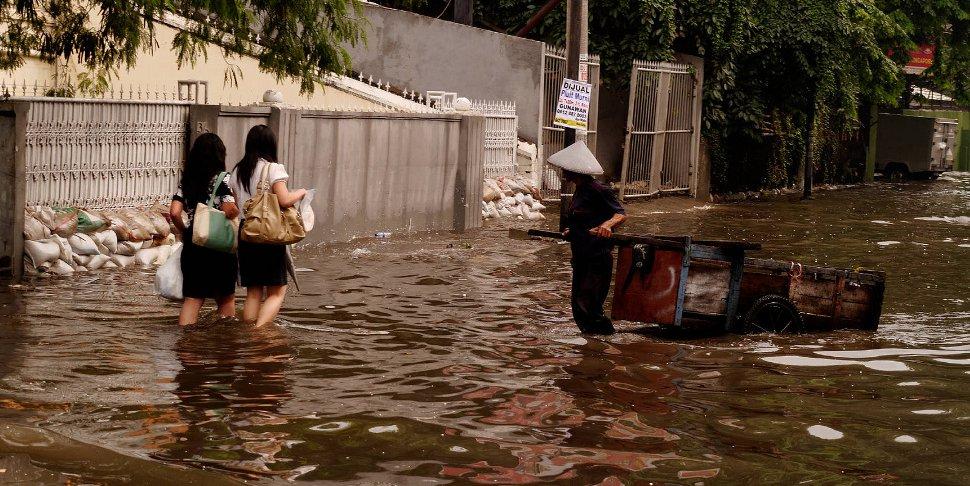 Jakarta sous eau - photo Seika - creative commons