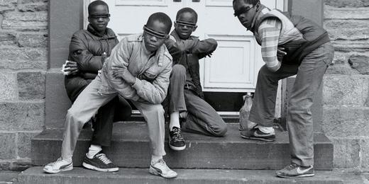Jamel Shabazz - jeunes garçons à Flatbush, Brooklyn  - 1980