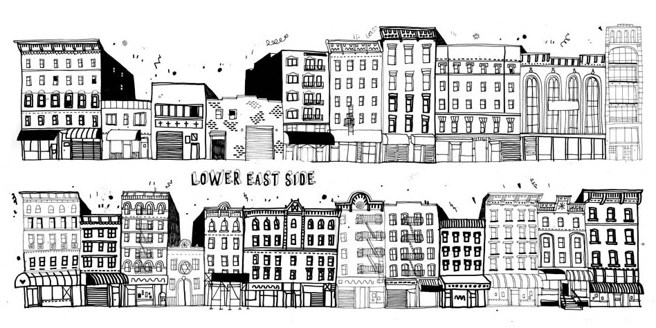 James Gulliver Hancock - All the Buildings in New York - Lower East Side