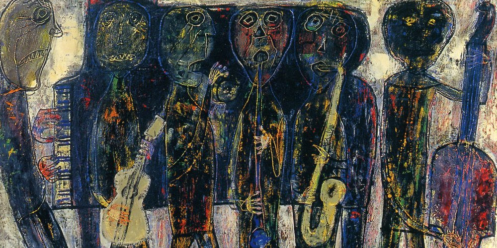 "Jean Dubuffet : ""Jazz Band - Dirty Style Blues"" (1944) - Centre Pompidou / Fondation Dubuffet"