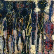 "Jean Dubuffet : ""Jazz Band - Dirty Style Blues"" (1944) - Centre Pompidou / Fondation Dubuffet"