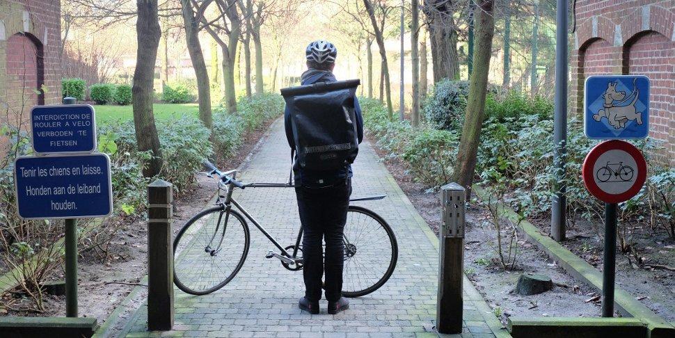 Jimmy Bretzel coursier à vélo