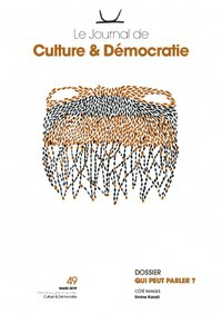Journal Culture & Démocratie no49 - couverture