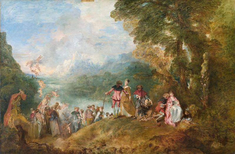 """""""L'Embarquement pour Cythère"""" - Antoine Watteau - wikimedia"""