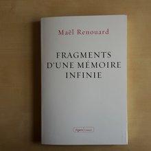 couverture du livre Fragments d'une mémoire infinie de Maël Renouard