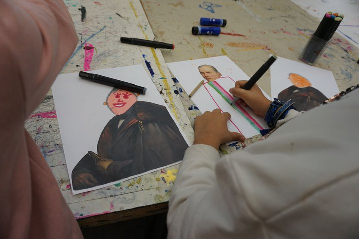 Maison de la culture d'Ath - exposition François Liénard - les enfants a l'oeuvre