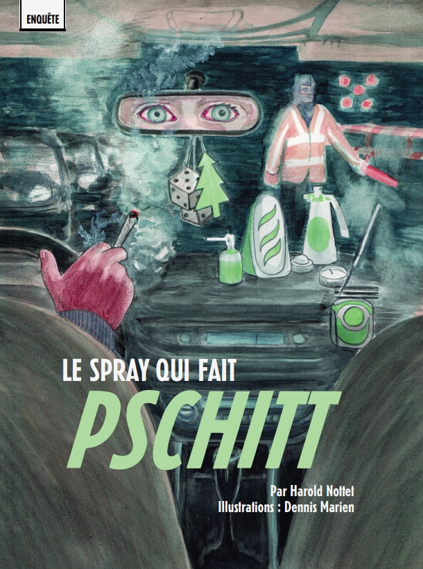 "Médor no22 ""Le Spray qui fait pschitt"" - illustration Dennis Marien"