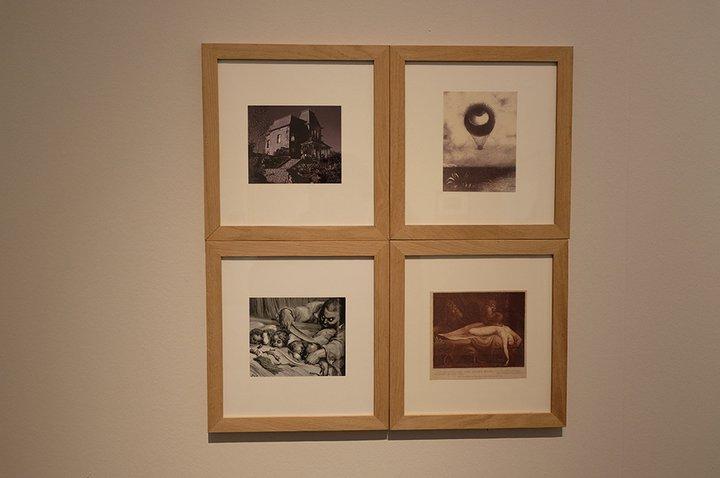 Musée Dr. Guislain - expo Angst - quatre petites gravures