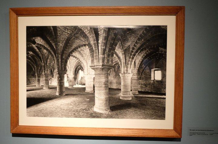 Musée Dr. Guislain - gravure de la crypte du château de Gérard le Diable