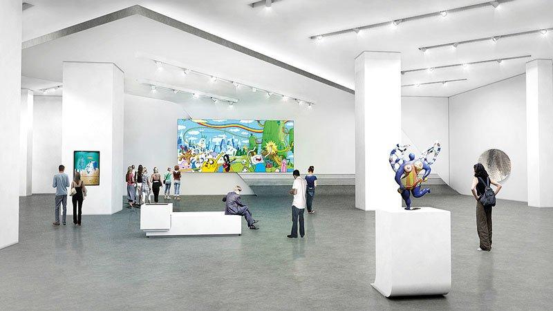 Musée Macan à Jakarta - intérieur - simulation