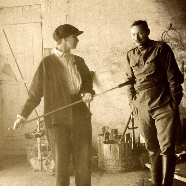 Natalia Goncharova et Natalia Goncharova à Moscou en 1913