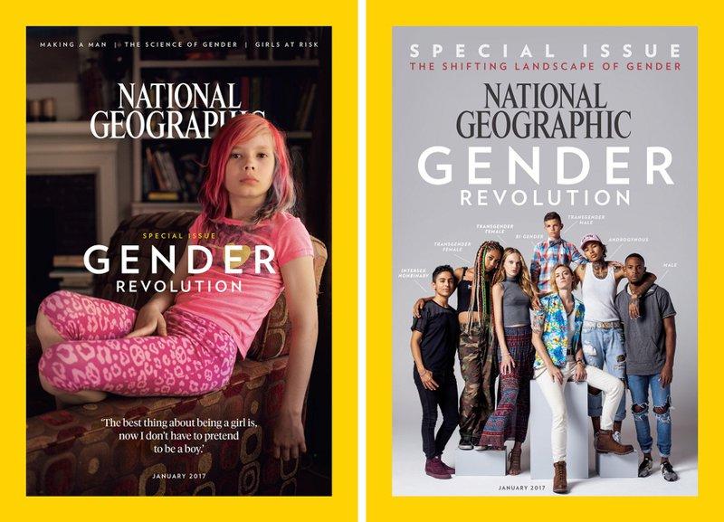 les deux couvertures américaines du National Geographic de janvier 2017