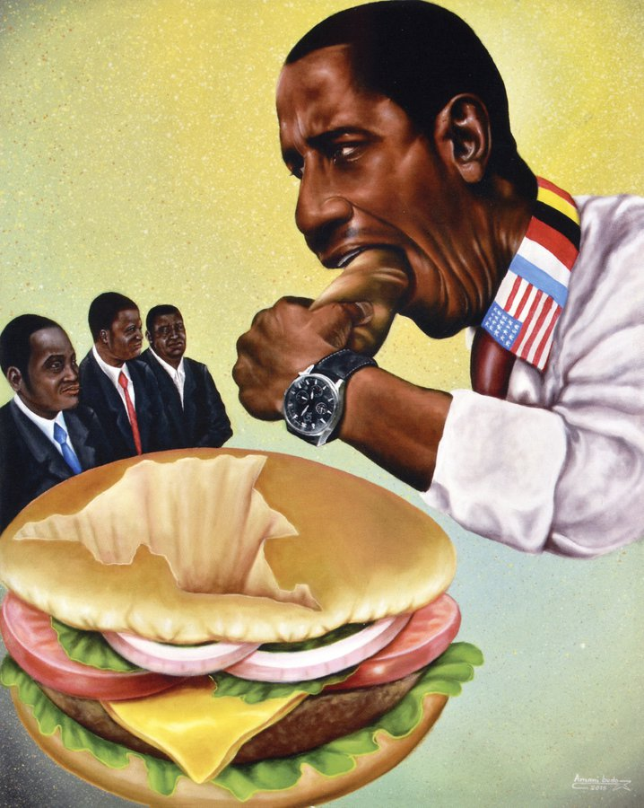 Obama - (c) Amani Bodo 2016 - Musée africain de Namur