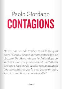 "Paolo Giordano : ""Contagions"" (Le Seuil)"