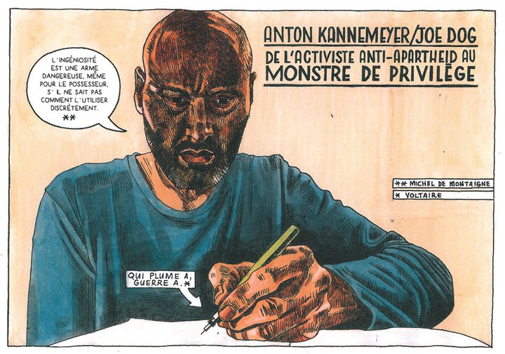 Pappa in Afrika - Anton Kannemeyer - La Cinquième Couche - autoportrait