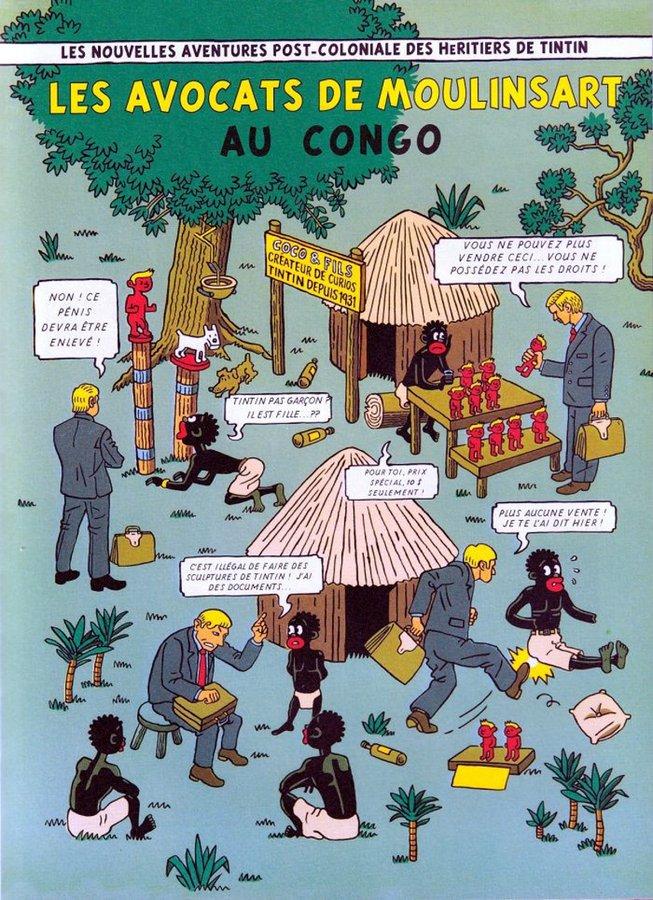 Pappa in Afrika - Anton Kannemeyer - La Cinquième Couche - héritiers de Moulinsart