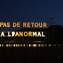 """""""Pas de retour à l'anormal"""" de nuit - (c) Boris Dambly"""