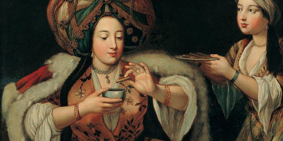 """Plaisir de café - école française XVIIIème siècle - pochette """"Les Routes du café"""" (label Alpha)"""
