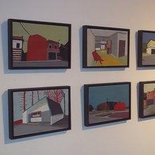 tableaux de Bruno Vandegraaf - centre cuklturel de Quaregnon