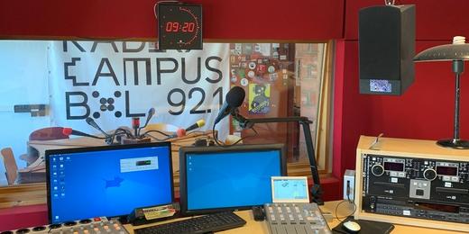 Radio Campus (Bruxelles) - studio, avril 2020