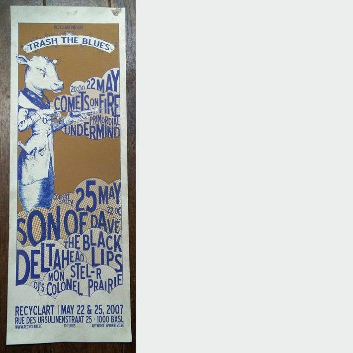 """Recyclart - affiche """"Trash the Blues"""" par Elzo Durt"""