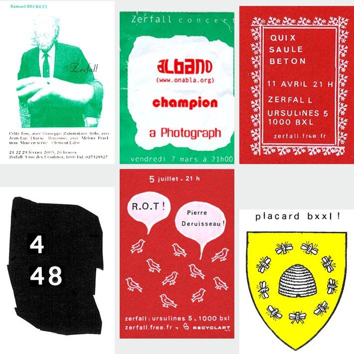 Recyclart - Zerfall - six flyers de Xavier Garcia Bardon