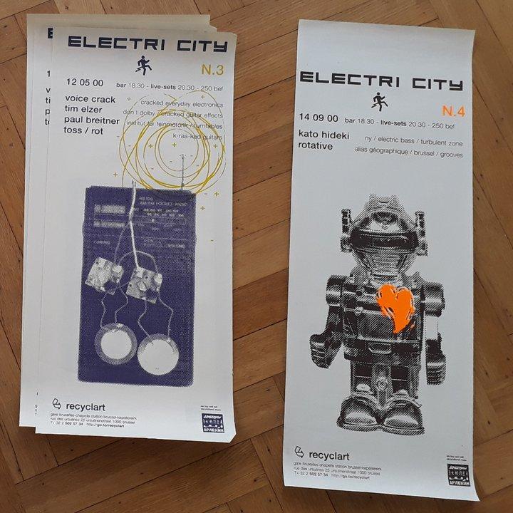 Recyclart - affiche Electri City par Harrisson (2000)