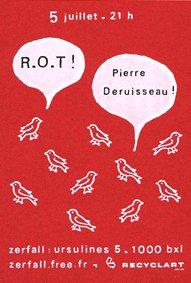 Recyclart - Zerfall - concert de ROT et Buffle - flyer