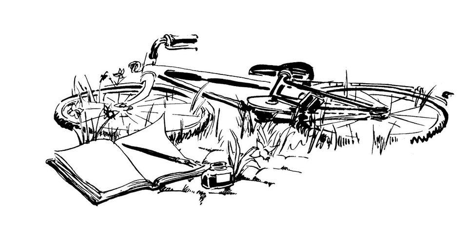 Balade dessinatoire à vélo avec Renaud De Heyn