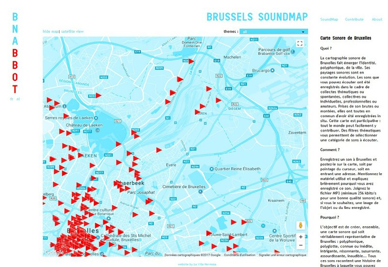 revue du web - Brussels Sound Map