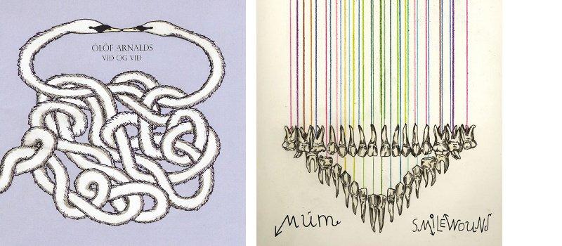 Sara Riel - pochettes de disques pour Mum et Olof Arnalds - 2009-2013