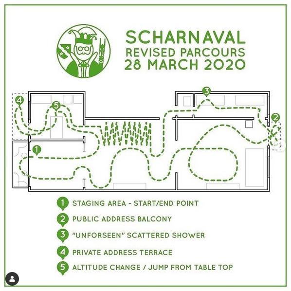 Scharnaval 2020 parcours