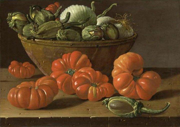 Nature morte avec tomates et aubergines