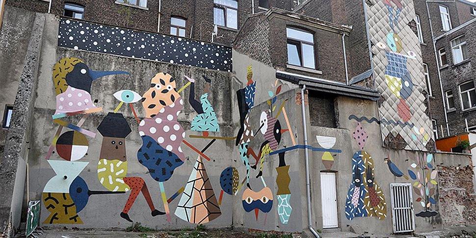 Street art Hell'O Monsters Liège