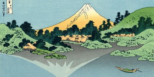 The Fuji reflects in Lake Kawaguchi _ 24 vues du mont Fuji  Du son sur tes tartines