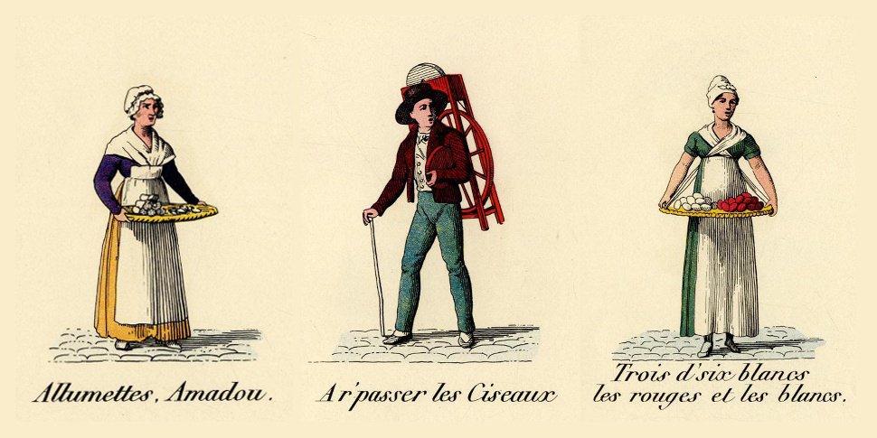 Trois cris de Paris - gravure
