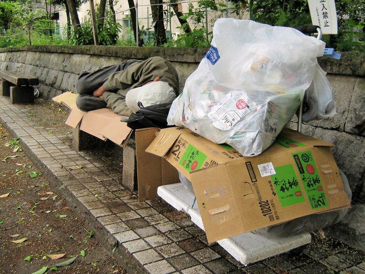 Parc Ueno - Tokyo - sans abri - creative commons Yeowatzup