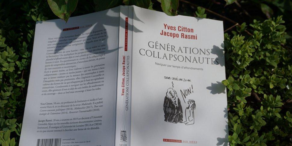 """Yves Citton et Jacopo Rasmi : """"Générations collapsonautes"""" (Le Seuil) - couverture"""