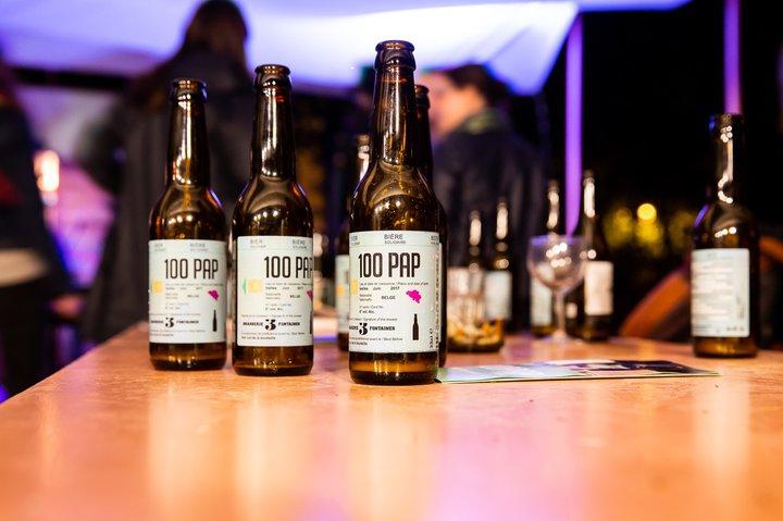 bière 100 PAP à table