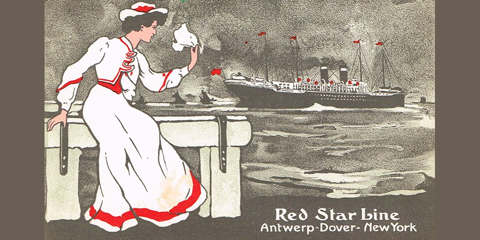 ancienne carte postale de la Red Star Line