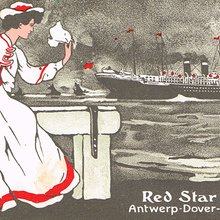 ancienne carte postale de la Red Star Line