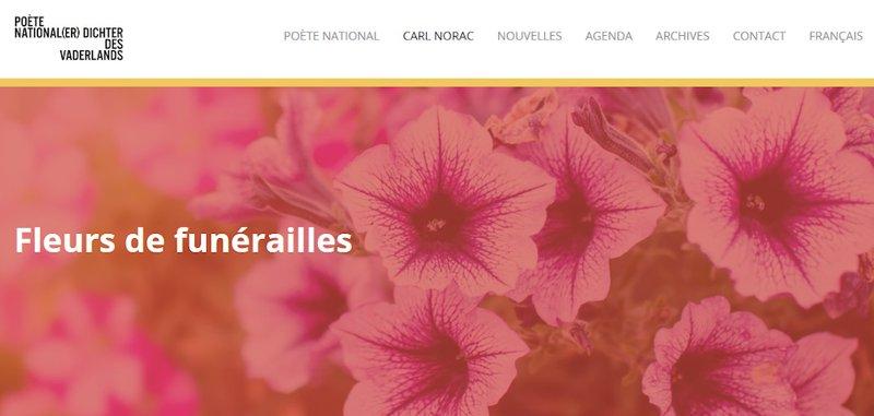 capture d'écran site Fleurs de funérailles
