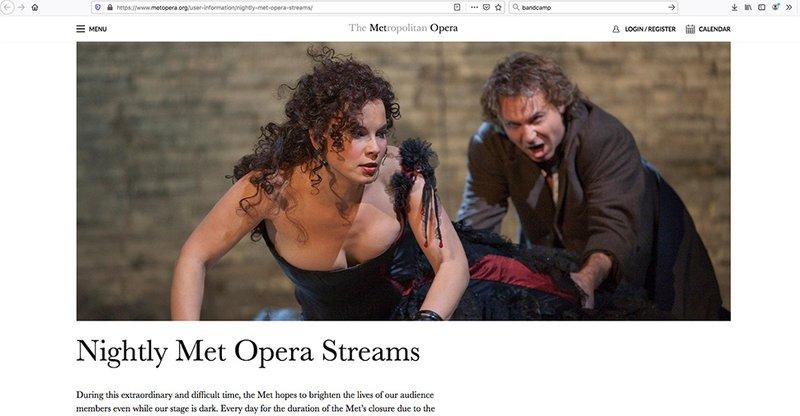 capture ecran Met Opera 2020