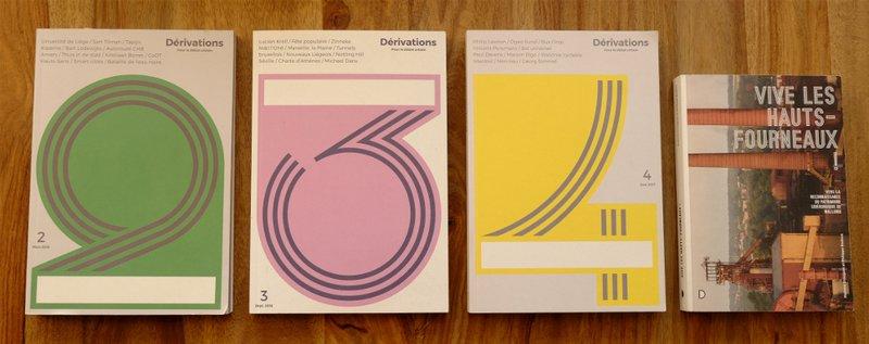 couvertures de la revue Dérivations - éditions urbAgora