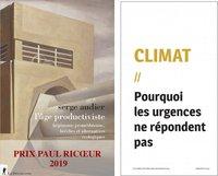 """couvertures Serge Audier et publication """"Climat"""" du PAC"""