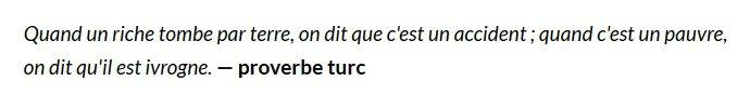 Carte blanche à Laurent d'Ursel - proverbe turc