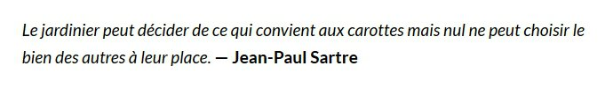 Carte blanche à Laurent d'Ursel - citation Jean-Paul Sartre