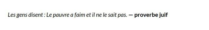 Carte blanche à Laurent d'Ursel - proverbe juif