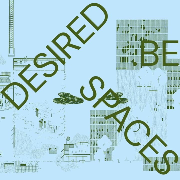 """""""Desired Spaces"""" (Eva Le Roi) - visuel avec typographie"""