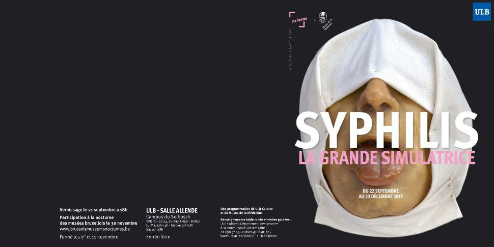 "exposition Syphilis - La grande simulatrice"" - ULB"